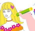 Jogo Colorir e Pintar Barbie