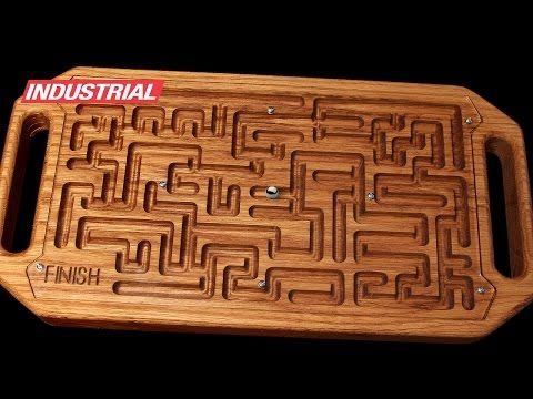 Wooden Game Maze Puzzle with Steel Ball Bearing CNC Project Using Amana Tool CNC Router Bits - YouTube
