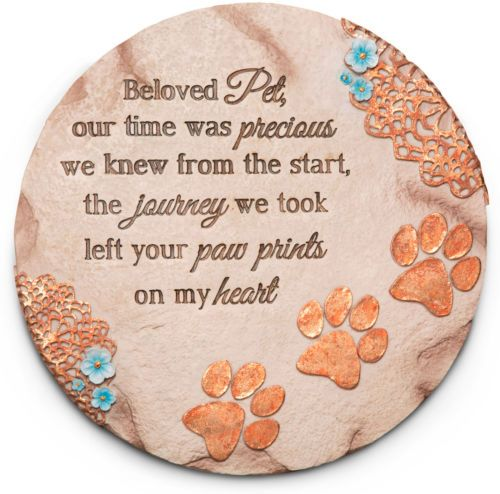 DOG CAT PET MEMORIAL GARDEN STEPPING STONE plaque grave marker pet headstone - http://pets.goshoppins.com/pet-memorials-urns/dog-cat-pet-memorial-garden-stepping-stone-plaque-grave-marker-pet-headstone/