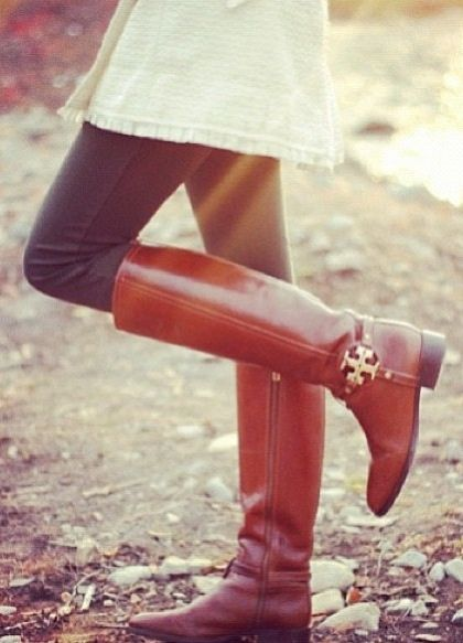 Preppy fashion. Fall fashion. I have these boots and LOVE them!