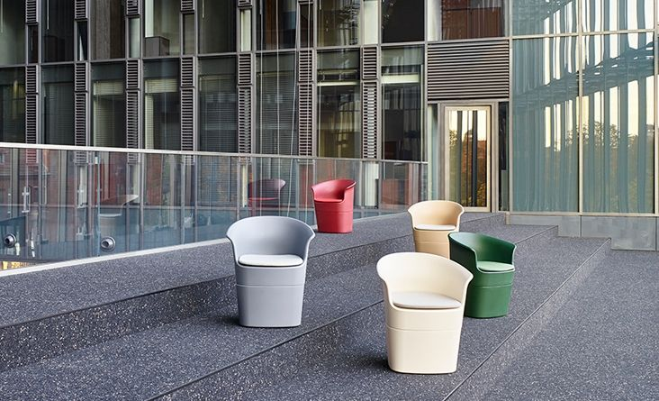 NOTI armchairs | TULLI collection | design by #TomekRygalik #remoulding #technology #outdoor #black #cushion #upholstered #club #hotel #restaurant #events #furniture #PublicPlaces #tarrace #garden #ShoppingMall #ConceptStores #retail #PolishDesign #modern #architecture #photography