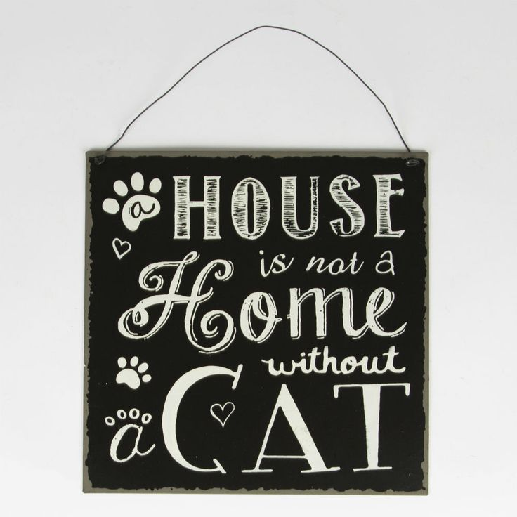 House is not a Home without a Cat Plaque