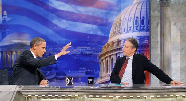 103 Headline: Funny money: Cashing in on political comedy. 328 x 601. Caption: 'The Daily Show' is credited with making others realize the market of political comedy. 9/22/12