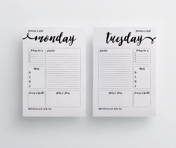 A5 2017 dorganisation pages Agenda A5 pages par aTypeOfInspiration