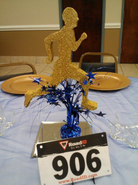 Centerpieces For Track Amp Field Banquet Used Runners Bib