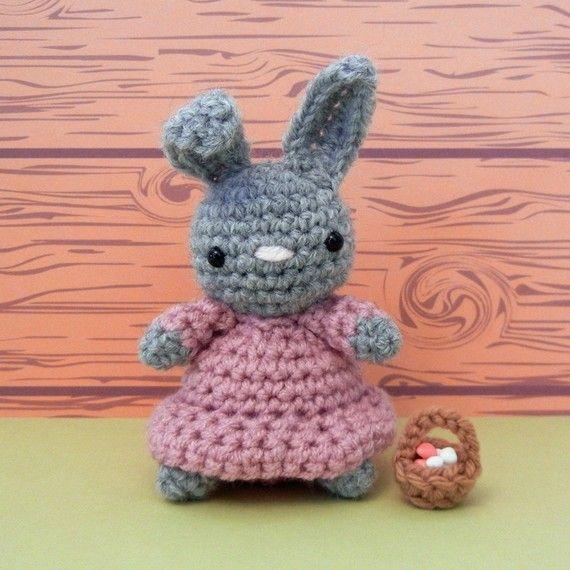 Amigurumi Bunny, Little Miss Maisy AND mini basket
