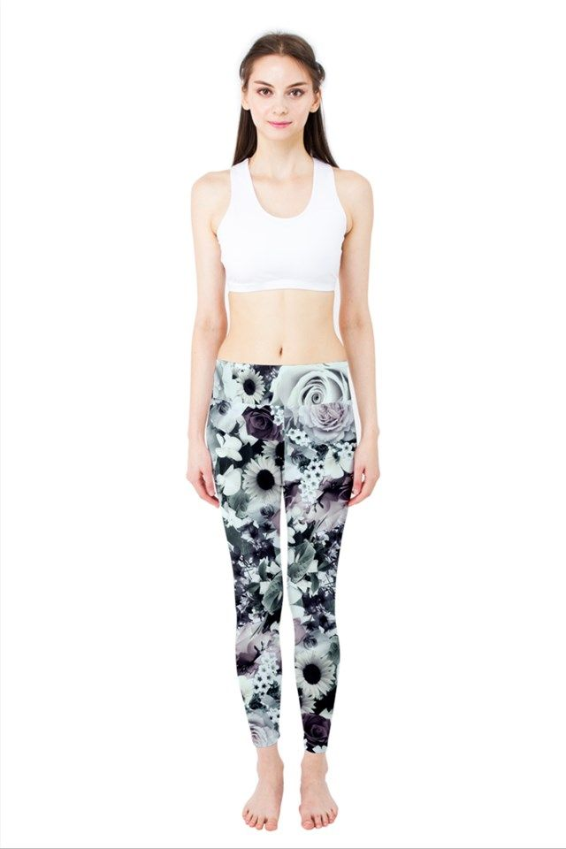 Romantic Floral. Romantic Floral Yoga Leggings.  Low rise yoga leggings designed for top performance and comfort while working out in style.   90% Polyester, 10% Spandex stretchable fabric, soft-touch finish Heathered waistband  High rise, full length Standard fit Hand wash cold #yoga #leggins #floral #pattern #muted #colors #fitness #cool #romantic #clothes