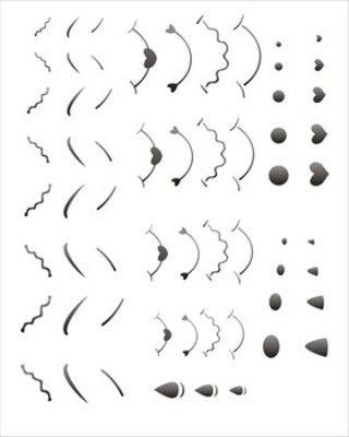 Stencil de Nariz Boca Sobrancelhas 20 x 25cm - OPA 1179 - Stencil 20 x 25cm - Stencil ou molde vazado - Empório Janial