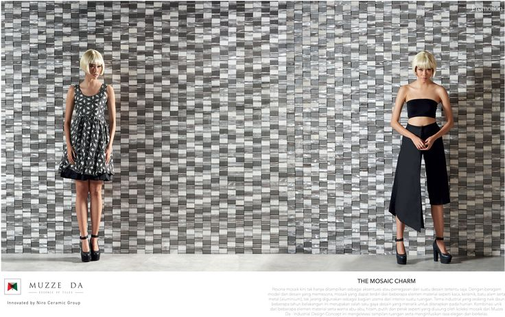 Haven't considered mosaics for your living space update? Visit Niro Tile & Bath showroom to explore our new mosaics collection. Here's a glimpse of industrial look inspiration from Muzze Da's mosaic 30.MZ.AL30, featured in Style & Décor magazine July 2015.