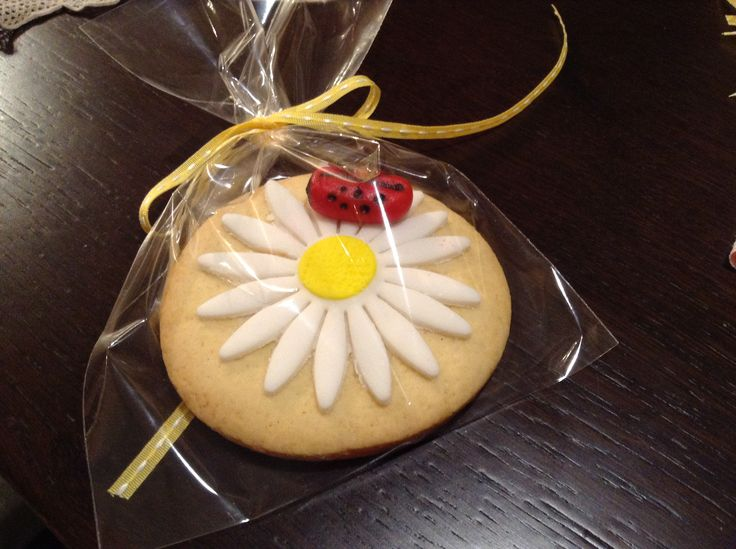 Cookies on a stick Ladybug on a daisy