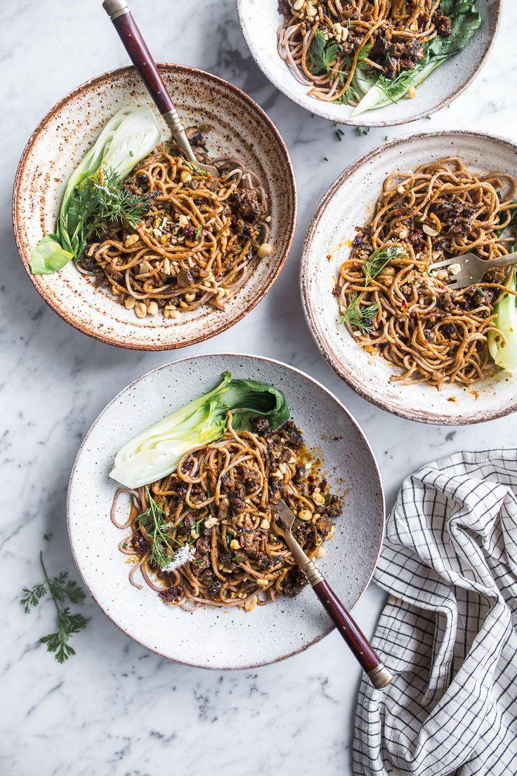 Hot Mushroom Dan Dan Noodles - Cook Republic #vegetarian