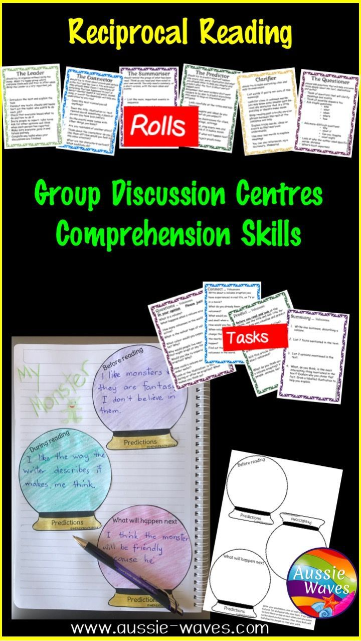 Reciprocal Reading Task Cards For Literacy Centre Activities Reciprocal Reading Literacy Center Activity Reading Task Cards [ 1277 x 720 Pixel ]