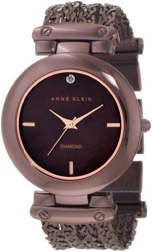 Anne Klein Women's 10/9795BMBN Diamond Dial Brown Ion-Plated Chain Bracelet Watch Anne Klein, http://www.amazon.com/dp/B006UL9U3G/ref=cm_sw_r_pi_dp_5R00qb1EQ5V34