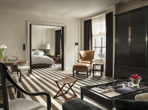 Contemporary interior design at The Rosewood Hotel in London #interiordesign #london #hotel #therosewood