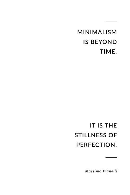 Minimalism is beyond time. // @vitruvi
