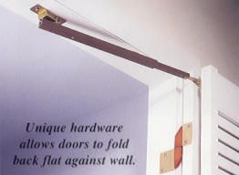 "Solution for 28"" bathroom doorway! Johnson Hardware® 1601 'FULL ACCESS' BI-FOLDING DOOR HARDWARE"