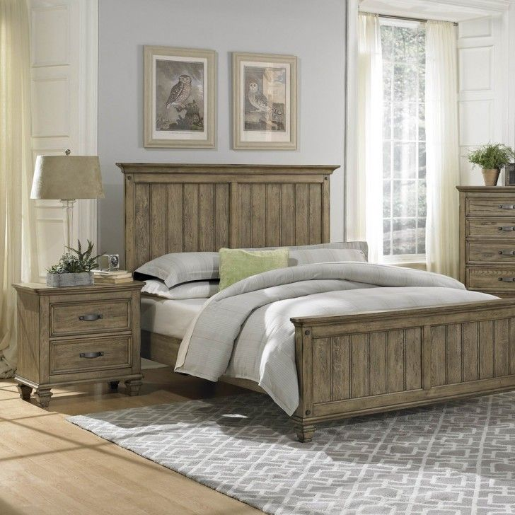 Traditional Dull Brown Color Scheme Driftwood Bed Frames With Calm Grey Bedding Accessories On The Mattress Complete With The Pillows Also High Style Rectangle Shaped Headboard Best Collections of the Driftwood Bed Frame Designs Furniture