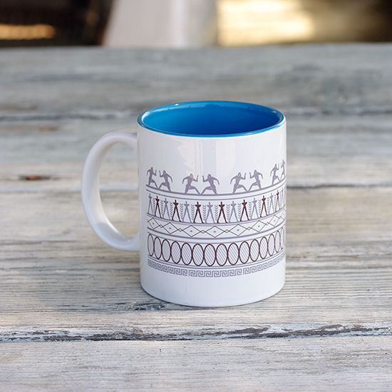 Mugs inspired from ancient Greece from the new collection KYANOS by Lacrimosa Design.  www.kyanos.lacrimosadesign.com