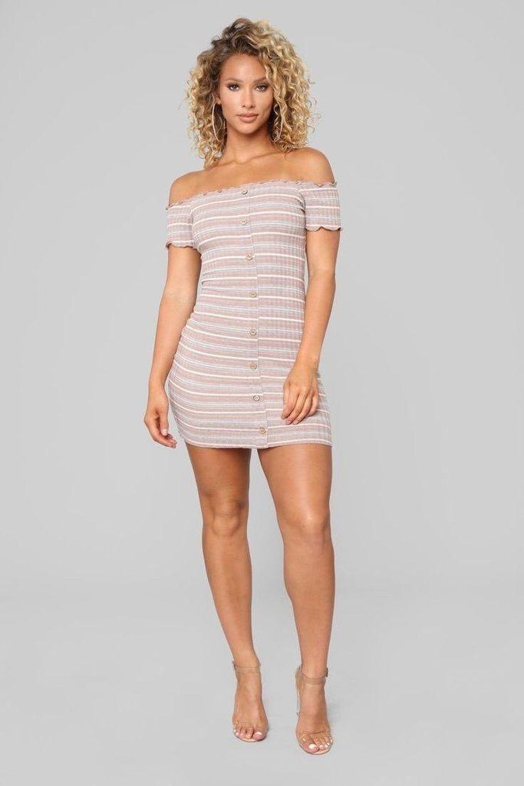 Fashion Nova off the Shoulder Dress Lace up bodycon