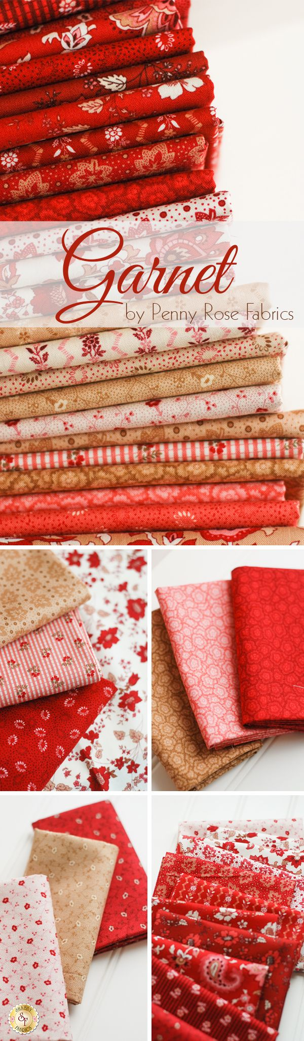 Garnet by Nancy Zieman for Penny Rose Fabrics is a beautiful fabric collection available at Shabby Fabrics