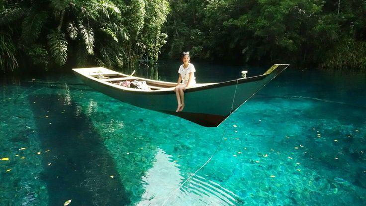 Mirror Lake or Labuan Cermin Lake, East Borneo, Indonesia