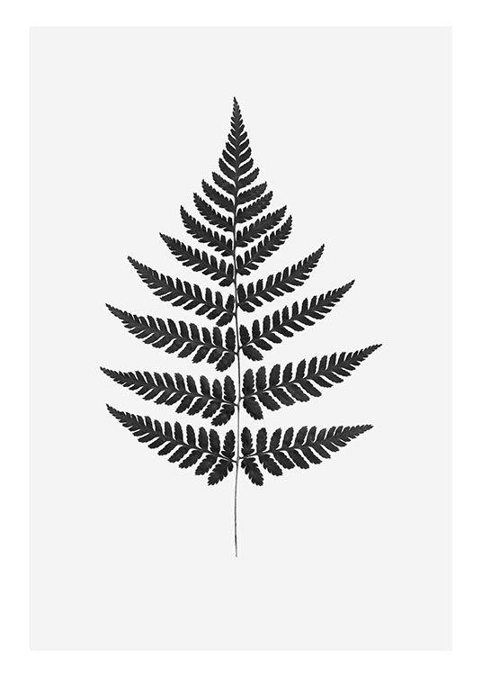 Print with botanical motif.