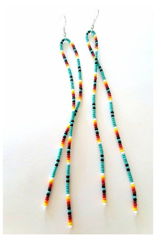 17 inches when worn Multi-colored and multi-layered Mostacillas necklace   35 inches long