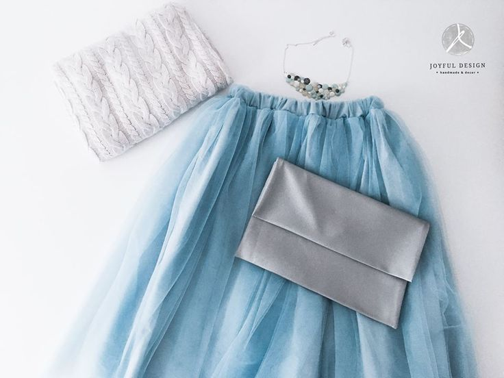 Baby blue tulle skirt outfit