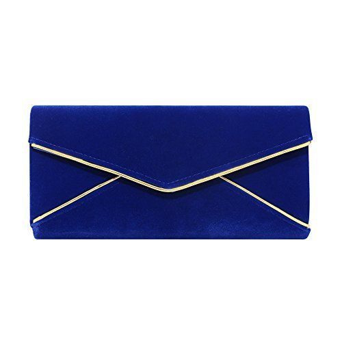 New Trending Clutch Bags: Stjubileens Ladies Velvet Evening Bag Formal Party Clutch For Women With Chain Strap (Sapphire blue). Stjubileens Ladies' Velvet Evening Bag Formal Party Clutch For Women With Chain Strap (Sapphire blue)   Special Offer: $12.99      444 Reviews Luxury velvet Material will make you charming, sexy and elegant. Perfect for Wedding, Party, Prom, Ball and evening events. Features: High...