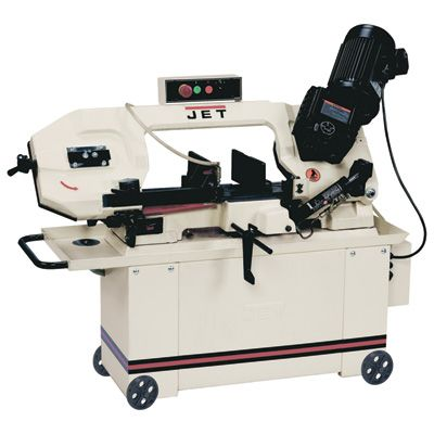 JET Horizontal Band Saw with Hydraulic Feed — 8in. x 14in., 1 HP, Model# 414466