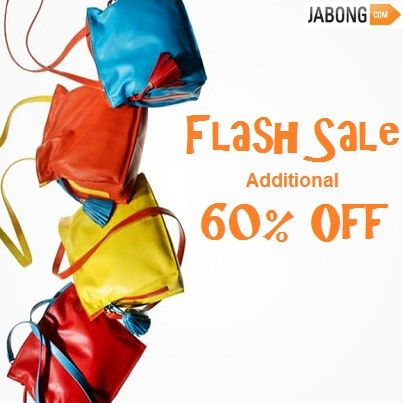 Jabong Flash Sale: Get a head start in elegant bags, Additional 60% Off. To find the coupon, click here http://bit.ly/1pHklnI