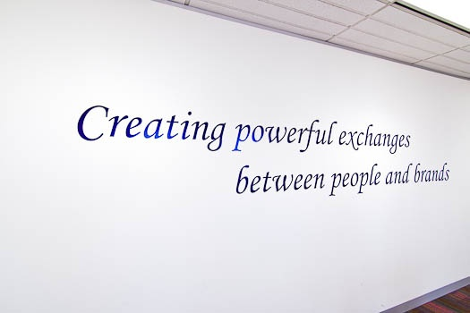 WPP Mindshare Office Fitout Graphics / Quotes