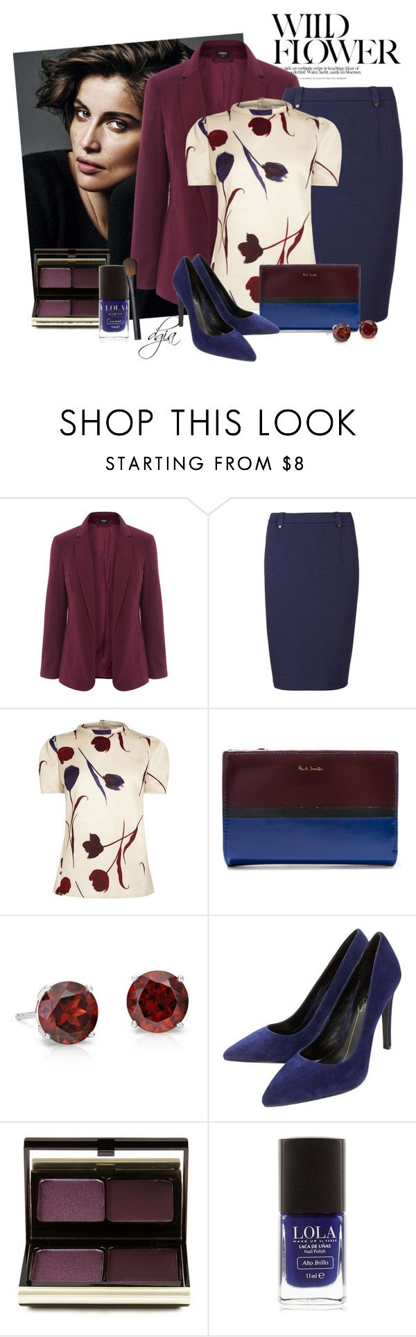 """Wilde flower"" by dgia ❤ liked on Polyvore featuring Oasis, Sugarhill Boutique, Paul Smith, Blue Nile, Lola Cruz, Kevyn Aucoin and NARS Cosmetics"