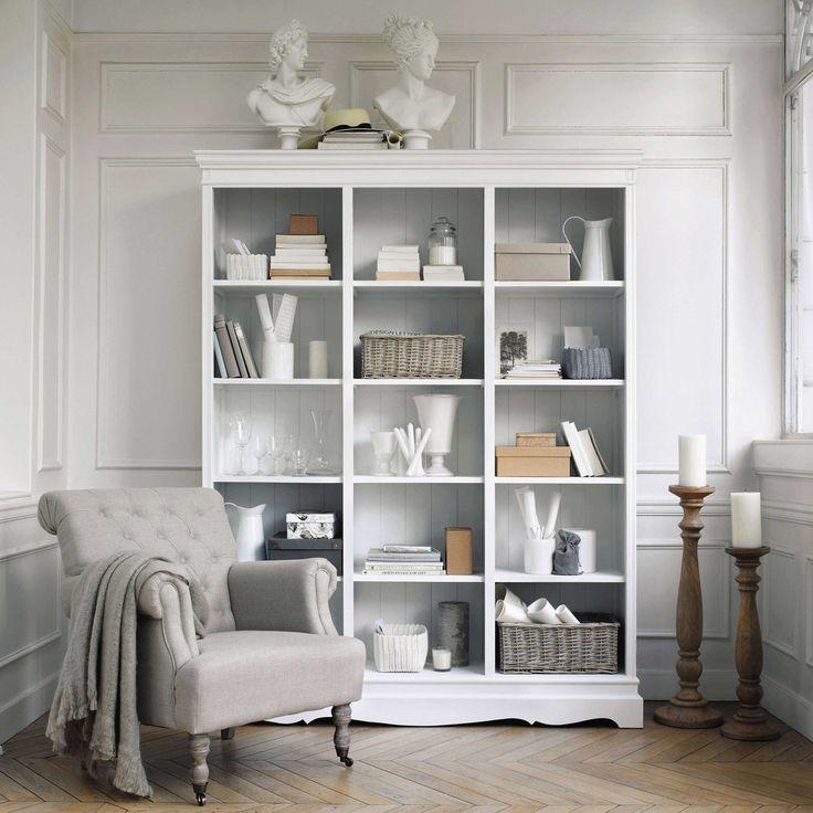 Libreria bianca in paulonia | Maisons du Monde