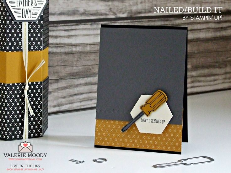 STAMPIN' UP UK - NAILED IT - BUILD IT - VALERIE MOODY - SHOP STAMPIN' UP! ONLINE HERE