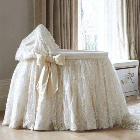 Could make this.....just need to find a lot of fabulous lace. Luxury Children's Cribs from Dragons of Walton Street