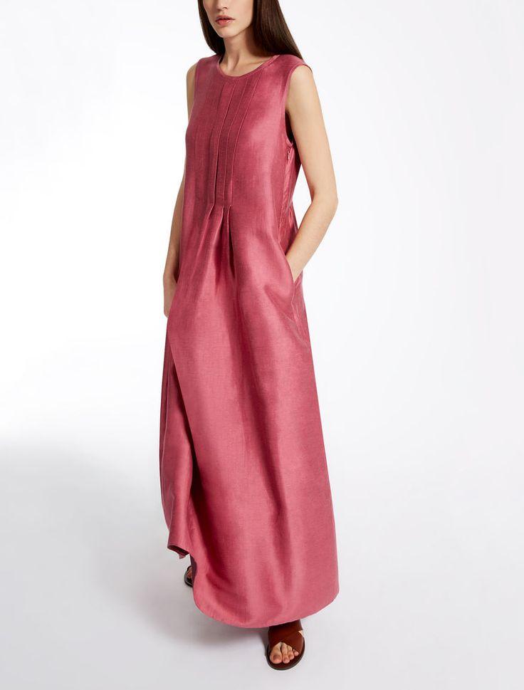 Max Mara ARONA pink: Linen and silk dress.