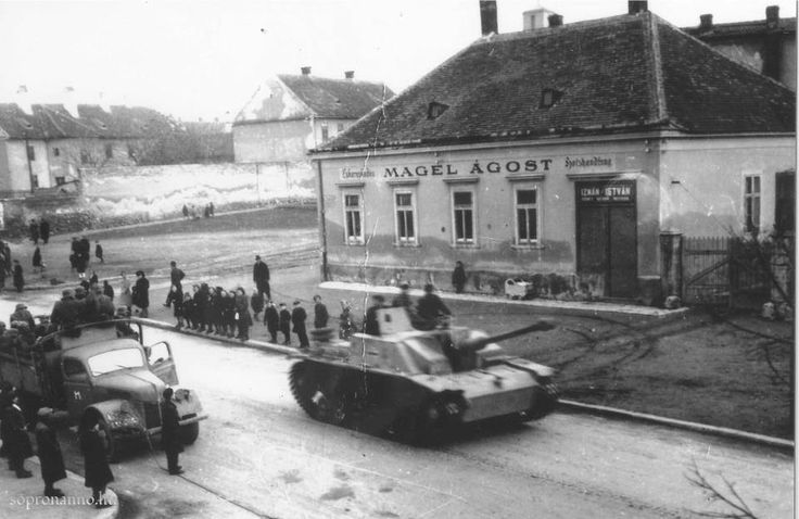 Stug III G's and a Ford truck produced in Cologne, probably in 1944. on March 19 I made the photo. (Semmelweis utca corner of road of Győr-Sopron)