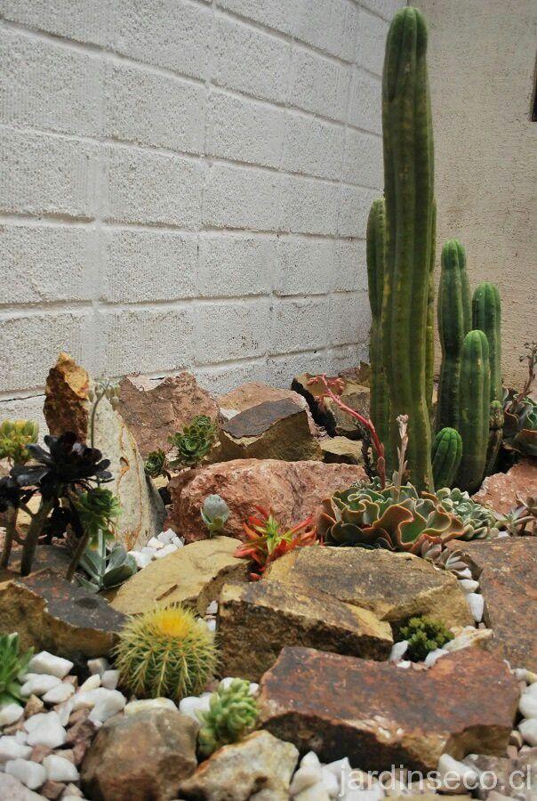 Rock Garden Patio Ideas river rock planter border rock borderpatio makeovergarden Con Piedras Cactus Rock Garden Patio Ideascactusideas