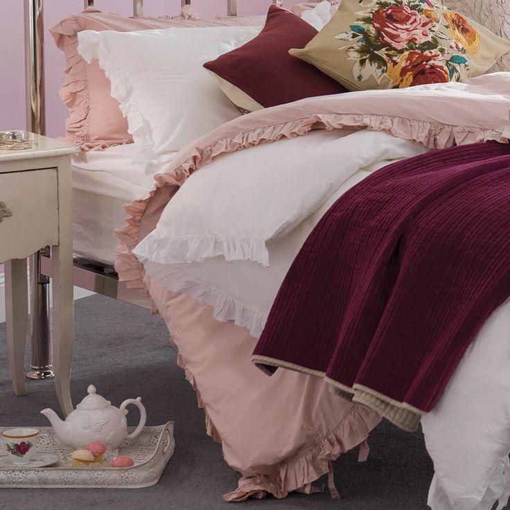 Kamilia Bedlinen Queen Pink - Bedlinen & Throws - Homewares