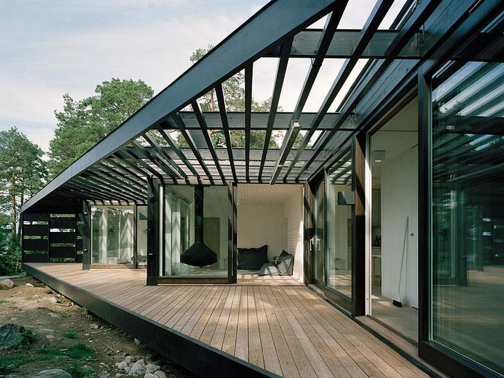 summer cottage in stockholm. by tham & hansson architecture.