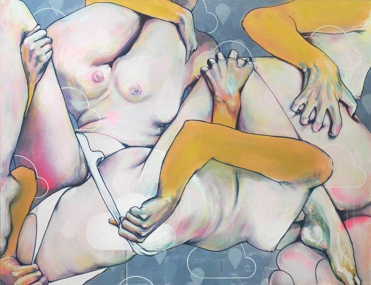 Uploaded 2016 by Olli Kilpi, acrylic on hardboard. 130cm x 100cm https://www.saatchiart.com/art/Painting-Uploaded-2/774319/3187679/view