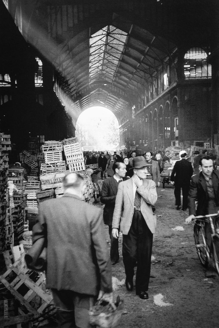 Les Halles Paris 1950s  Photo: Marshall Hirsh