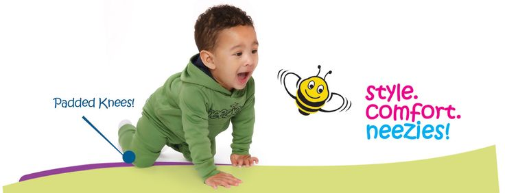 Style. Comfort. Neezies. Pants with padded knees for busy babies and toddlers! www.neezies.com