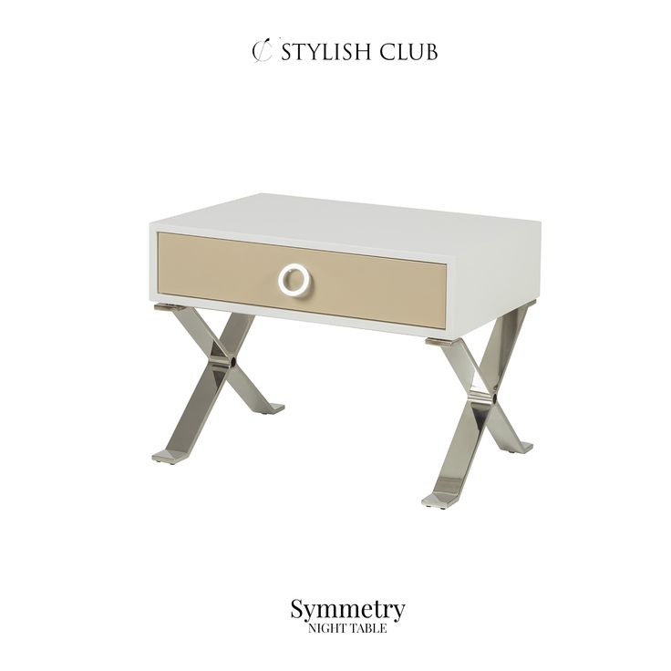 Our luxurious Symmetry night table is sure to be a showstopper in any room. But especially in your bedroom.
