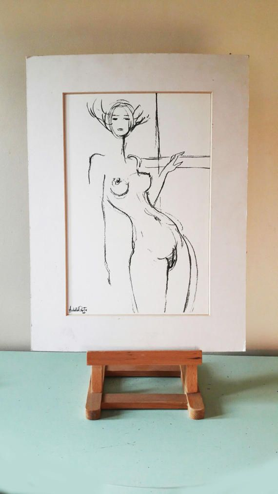 Fabulous Halftone Nude Print by World Famous Artist  Amleto