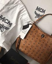 Bargain!!!  NWT MCM Worldwide Gold Visetos Hobo -Tags, Orig $890-Beyoncé, Selena Gomez