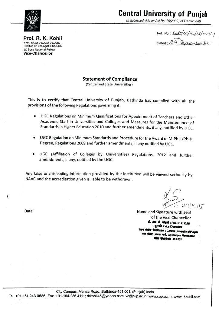 Reach Certificate Of Compliance Template