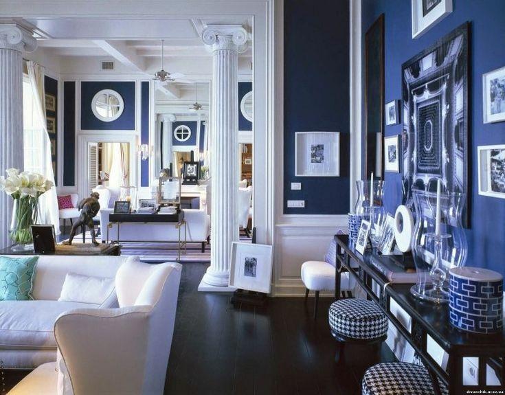 Blue living room farrow ball http www kenisahome