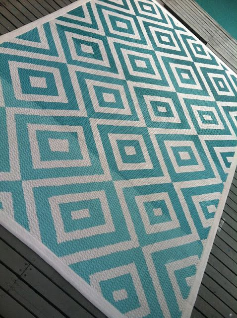 Decorating Cents: Painted Rugs